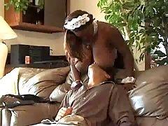 Ebony honey fucking hard in free xxx video