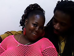 A thick black chick for a thick black cock