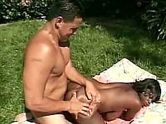 Ebony porn action
