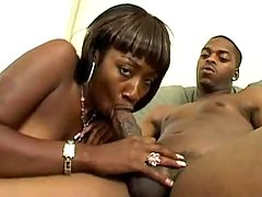 Lusty ebony in porn video