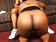 Fat black ho begs for him to fuck her tight wet slit harder