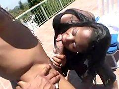 Lusty ebony in porn video