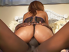 Sinnamon Love shows her love for anal sex when she opens her black ass up for a hard dick