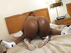 Horny fat black bitch gets fucked hard