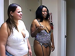 Two black fatties feed their hunger for pussy in lesbian sex