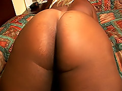Hefty black fatty bounces her big black ass on his big cock
